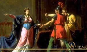 Frédégonde armant les meurtriers de Sigebert (Fredegund and the assassins of Sigebert) by Emmanuel Herman Joseph Wallet