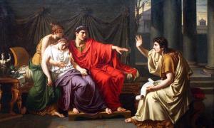 Virgil Reading the Aeneid to Augustus, Octavia, and Livia