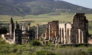 The Roman ruins of Volubilis, Morocco.