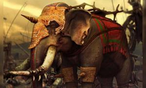 Modern representation of a Carthaginian war elephant.