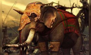 Modern representation of a Carthaginian war elephant.