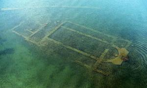 The submerged St. Neophytos Basilica, Nicaea, Turkey.
