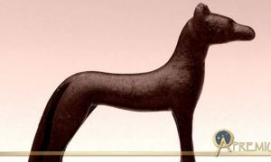 Bronze statuette of the funerary deity, Wepwawet; design by Anand Balaji