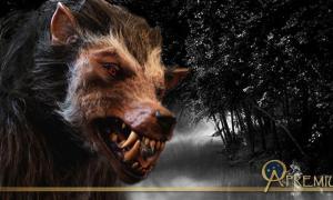 Deriv; Werewolf costume and natural landscape