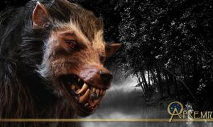 Deriv; Werewolf costume and natural landscape