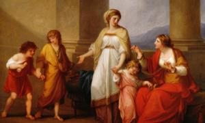 Cornelia, Mother of the Gracchi (1785) by Angelica Kauffman.
