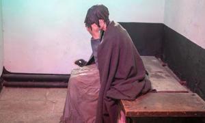 A model of an impoverished woman inside Wicklow Gaol.
