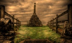 """Example of a monument for an accused witch – """"Maggie Wall burnt here 1657 as a Witch."""" Source: Alan Weir/CC BY 2.0"""