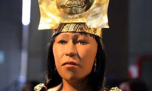 Reconstructed face of the Lady of Cao, a Pre-Hispanic Peruvian female ruler.