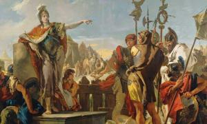 Women Warriors: Queen Zenobia Addressing Her Soldiers by Giovanni Battista Tiepolo