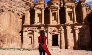 Woman at Petra.