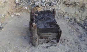 The oldest wooden structure unearthed at the excavation site in Czech Republic.        Source: Michal Rybníček / Mendel University