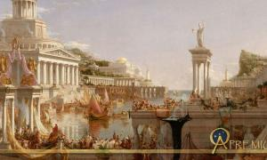 """Roman citizens enjoyed many privileges. """"The Consummation The Course of the Empire"""" by  Cole Thomas"""