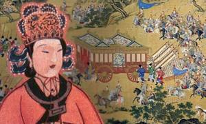 Deriv; Wu Zetian, famous work of art depicting the Chinese emperor's large procession.