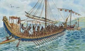 Illustration of a Minoan ship
