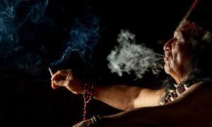 Amazonian Shaman Smoking