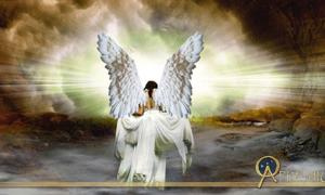 Angel entering heaven