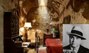 The prison cell of Al Capone at Eastern State Penitentiary