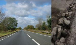 Britain's A1 road - Ancient 10,000 years old
