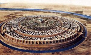 The ancient city Madinat al-Salam - Baghdad's Round City