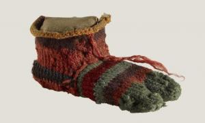 Child's left-foot sock (British Museum)
