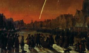 'Comet of 1680 over Rotterdam' by Lieve Verschuier.