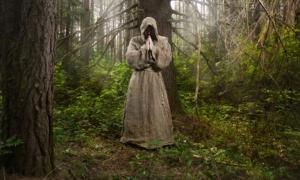 Monk in the forest Credit: Demian / Adobe Stock