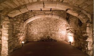 """15th century the basement of a """"market house"""" used as a prison"""