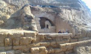 Ancient Tomb Guarded by Sphinxes in Greece