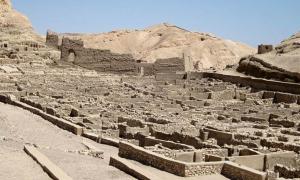 The ancient village of Deir el-Medina in Egypt