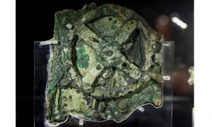 Antikythera Mechanism, National Archaeological Museum, Athens, Greece.