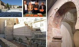 San Esteban archaeological site , Presentation of the gold and silver coins by Murcia's department of culture in 2012.