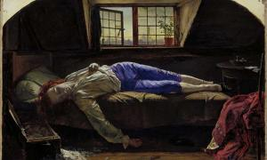 Henry Wallis – Poet Thomas Chatterton's death by arsenic.