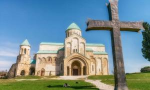 The Cathedral of the Dormition is an 11th century cathedral in Kutaisi, Georgia of the Bagrationi dynasty. Photo source: viii / Adobe Stock.