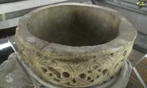 1500-year-old baptismal font discovered at place of Jesus' birth. Source: Christian Media Center – English / YouTube Screenshot.