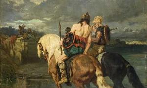 Goths cross a river by Évariste-Vital Luminais.