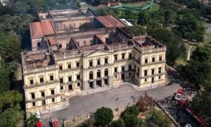 Remains of The National Museum of Brazil.