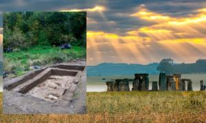 Main: Stonehenge, Salisbury Plain, Wiltshire (valeryegorov / Adobe Stock). Inset: Blick Mead (Photo: Tom Lyons via Archaeology.co.uk)