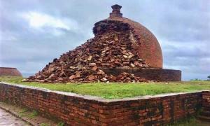 A Buddhist stupa at Thotlakonda Buddhist Monastery