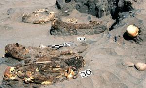 Burial site at Peru