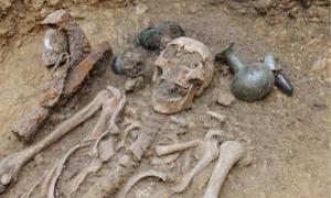 300 burials in ancient Merovingian necropolis