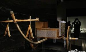 The cart from 2,400 years ago was reconstructed using original workmanship techniques with digital modeling and modern design.
