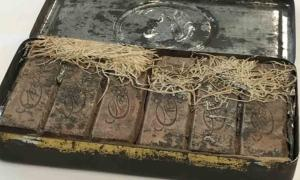 The tin of Boer War chocolates recently found among the papers of Banjo Paterson, Australia's most famous poet.    Source: National Library of Australia