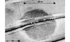 The circular structure was first detected in a sonar survey of part of the sea in the summer of 2003.