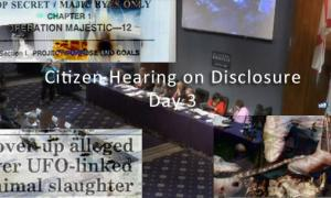 Citizen Hearing on Disclosure - Day 3