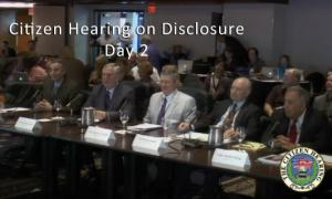 Citizen Hearing on Disclosure - Day 2