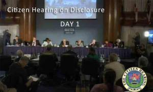 Citizen Hearing on Disclosure - Day 1