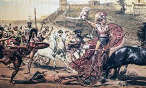 Fresco of the battle of Troy. Credit: quasarphotos / Adobe Stock
