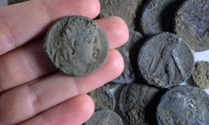 Hoard of 2,150-year-old silver coins found in Modiin, Israel
