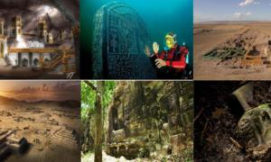 A compilation of lost cities that have since been found.